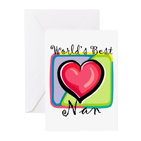 World's Best Nan Greeting Cards (Pk of 10)