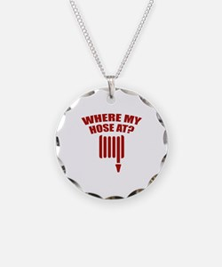 Where My Hose At? Necklace Circle Charm