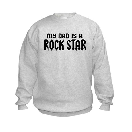 My Dad is a Rock Star Kids Sweatshirt