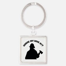 Where My Hose At? Square Keychain