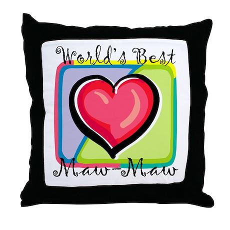 World's Best Maw-Maw Throw Pillow