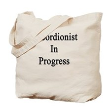 Accordionist In Progress  Tote Bag