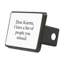 Dear Karma Rectangular Hitch Cover