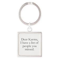 Dear Karma Square Keychain