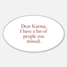 Dear Karma Decal