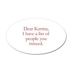 Dear Karma 22x14 Oval Wall Peel