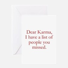 Dear Karma Greeting Card