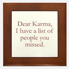 Dear Karma Framed Tile