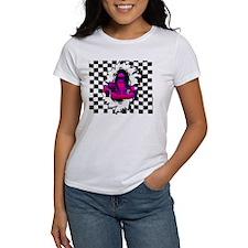 Magenta Kart Breaking Through Checkered Flag T-Shi