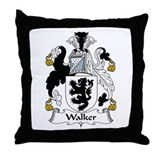 Walker family crest Throw Pillows