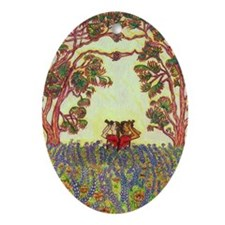 Girdners Tree Embrace Ornament (Oval)