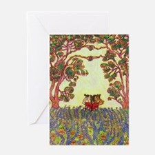 Girdners Tree Embrace Greeting Cards
