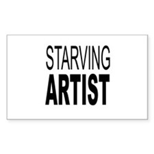 Starving Artist Rectangle Decal