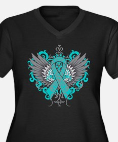 Myasthenia Gravis Awareness Wings Plus Size T-Shir
