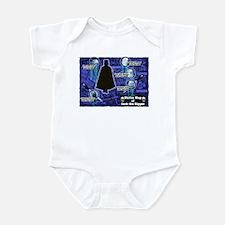 Jack the Ripper Victim Map Blue Infant Bodysuit