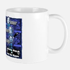 Jack the Ripper Victim Map Blue Mug