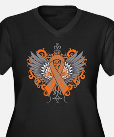 Multiple Sclerosis Awareness Wings Plus Size T-Shi