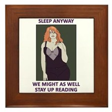 Cute Redhead Insomnia Framed Tile