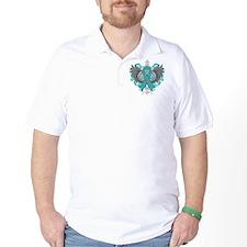 Interstitial Cystitis Awareness Cool Wings T-Shirt