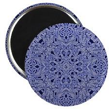 dark blue floral  Magnet