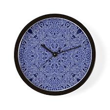 dark blue floral  Wall Clock
