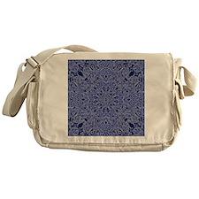 dark blue floral  Messenger Bag