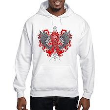 Heart Disease Awareness Cool Wings Hoodie