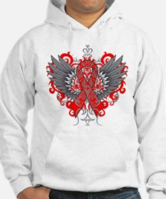 Heart Disease Awareness Cool Wings Hoodie