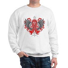 Heart Disease Awareness Cool Wings Sweatshirt