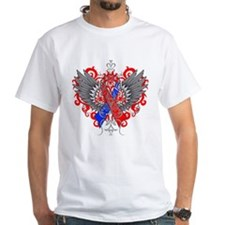 Congenital Heart Defect Awareness Wings T-Shirt
