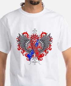 Congenital Heart Defect Awareness Wings T-Shirt