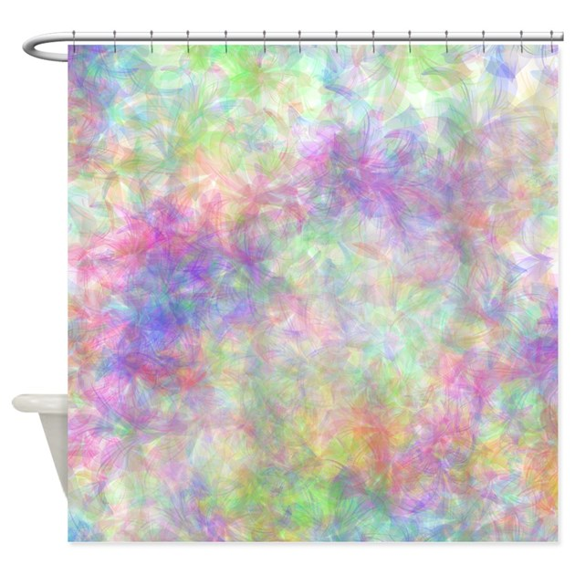 Pretty Pastel Floral Shower Curtain By Accessorizeme