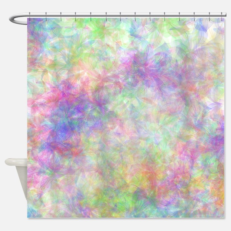 Pastel Floral Shower Curtains Pastel Floral Fabric Shower Curtain Liner