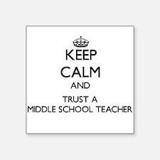 Keep Calm and Trust a Middle School Teacher Sticke