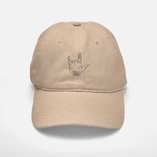 horns up 1 Baseball Baseball Cap