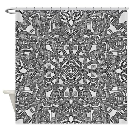Floral Black And White Shower Curtain By Listing Store 117140716