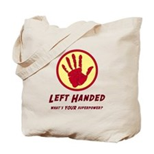 Left Handed Super Power Tote Bag
