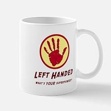 Left Handed Super Power Mugs