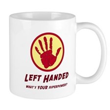 Left Handed Super Power Mugs