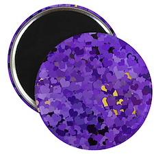 Purple Confetti Hearts Magnets