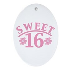 Sweet 16 Oval Ornament