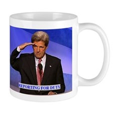 KERRY REPORTING FOR DUTY Mug