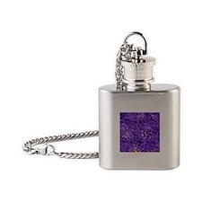 Purple Confetti Hearts Flask Necklace