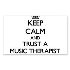 Keep Calm and Trust a Music arapist Decal