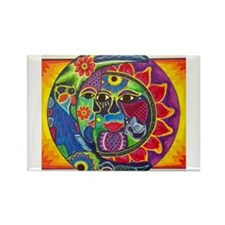 Mexican Sun and Moon Magnets