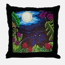 Night Panther Throw Pillow