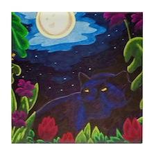 Night Panther Tile Coaster
