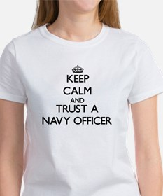 Keep Calm and Trust a Navy Officer T-Shirt