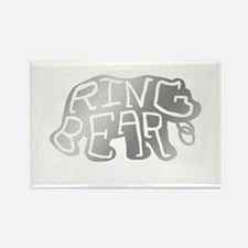 Ring Bear In Silver Rectangle Magnet