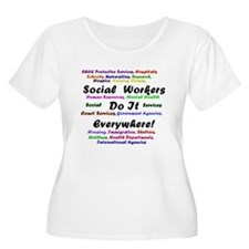 Social Workers are Everywhere Plus Size T-Shirt